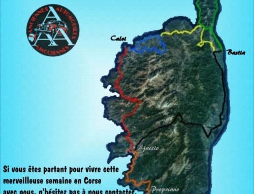 Rallye touristique en Corse